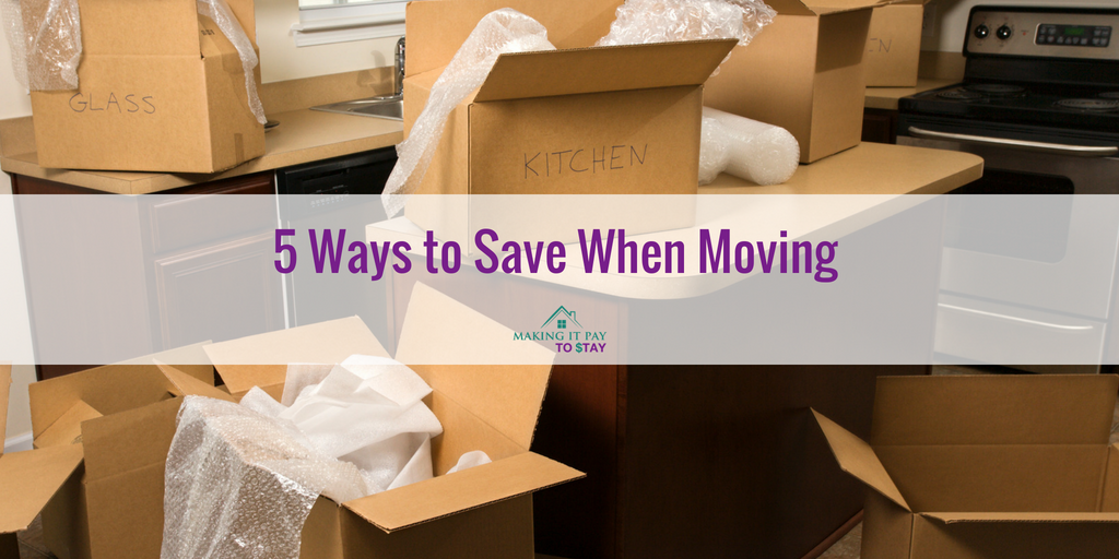 5 Ways to Save When Moving