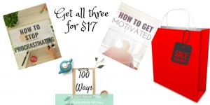 3 Ebook Bundle Blowout Stop Procrastinating Get Motivated