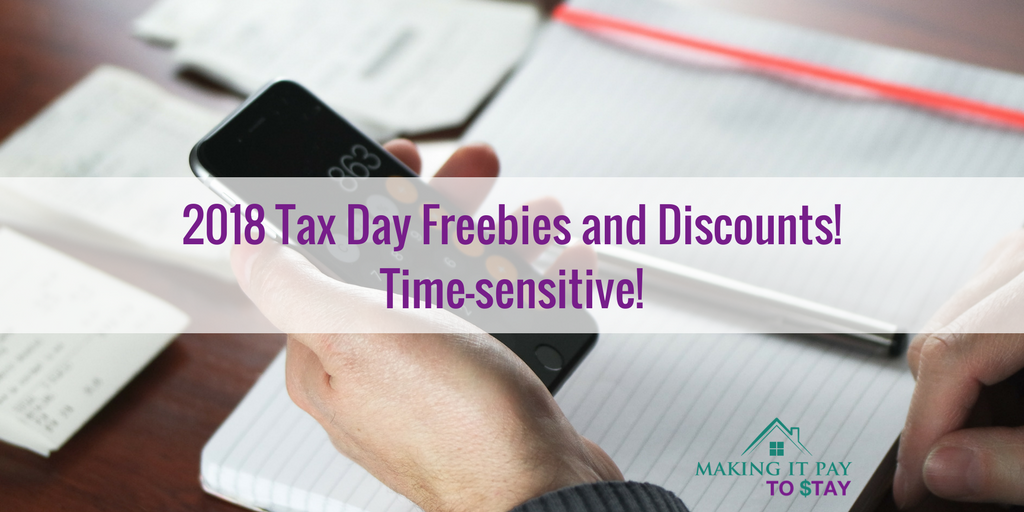 2018 Tax Day Freebies and Discounts!