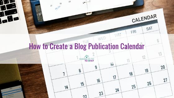 How to Create a Blog Publication Calendar