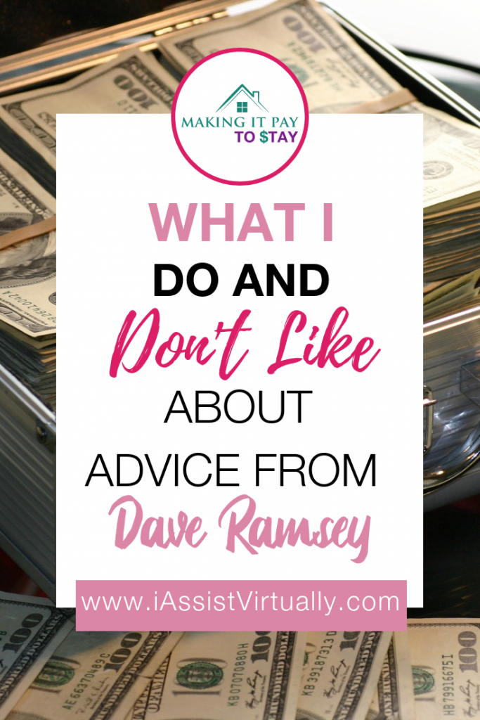 Pinterest Template - What I Do and Don't Like About Advice From Dave Ramsey