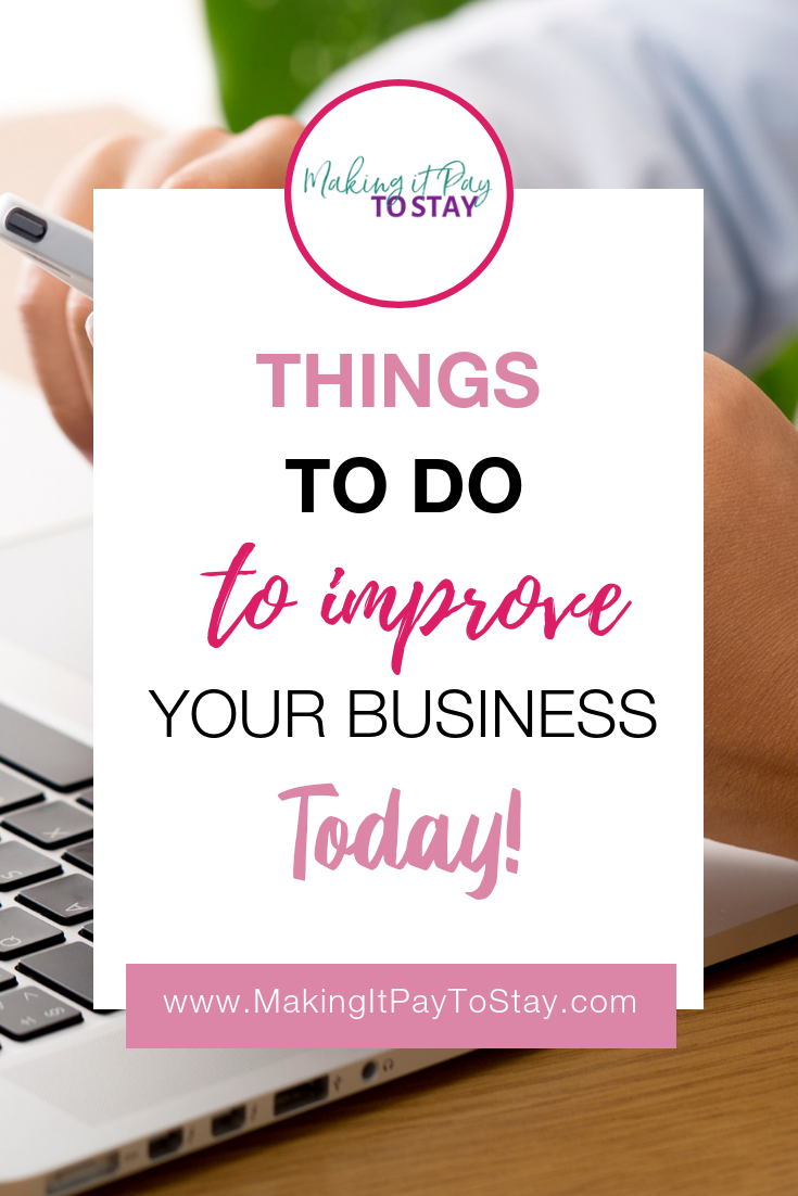 Pinterest Template Things to Do To Improve Your Business Today