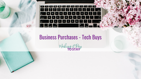 Business Purchases – Tech Buys