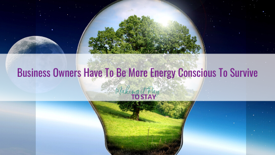 Business Owners Have To Be More Energy Conscious To Survive