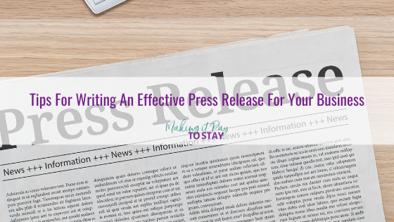 Tips For Writing An Effective Press Release For Your Business